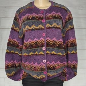 VintageTalbots Multicolor Cardigan with Buttons